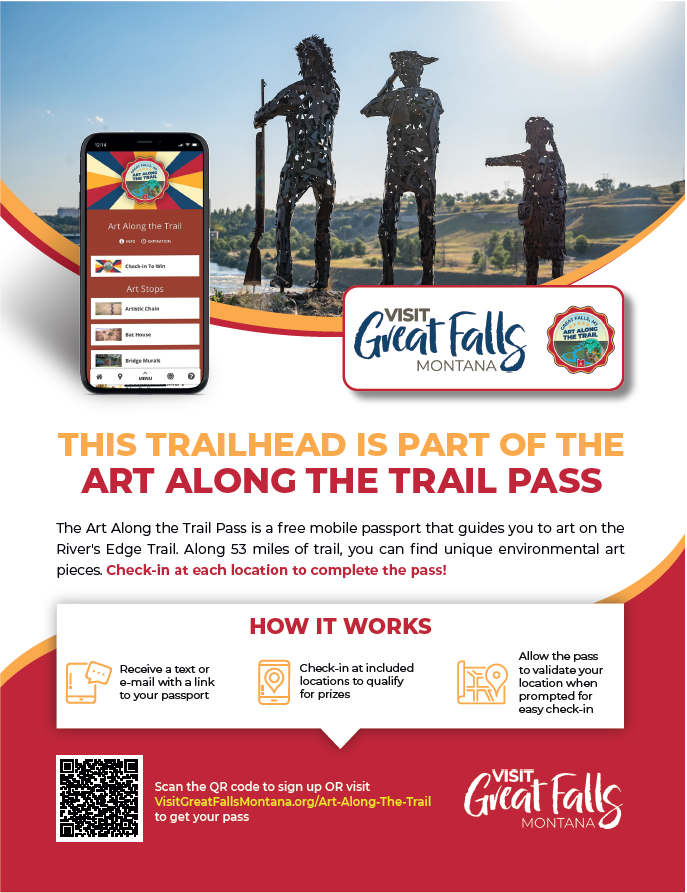 Flier about art on the trail passport